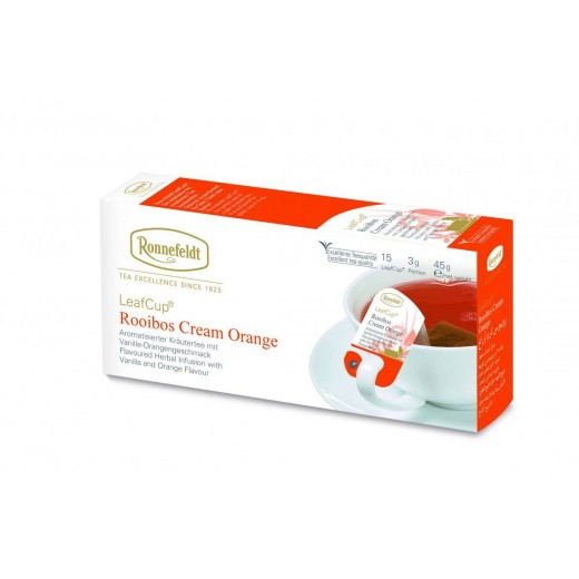 Ronnefeldt LeafCup Cream Orange Teavelope - per box of 15 pieces